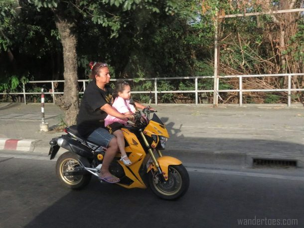 Thailand traffic motorbike child crazy scary things we see