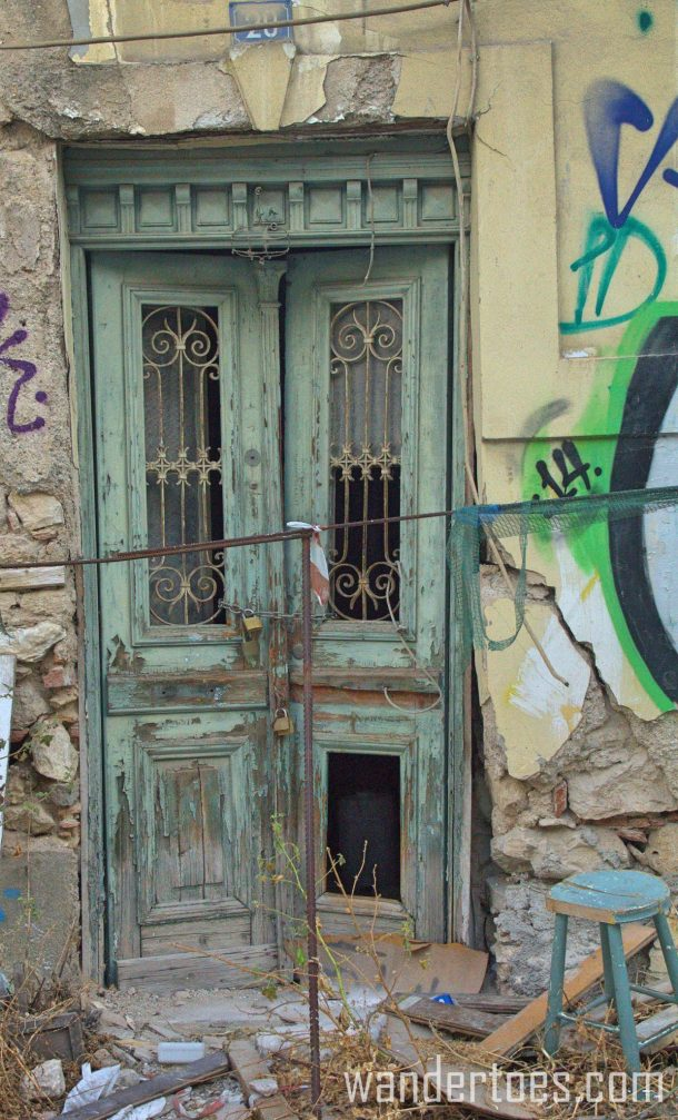 Green Abandoned Door