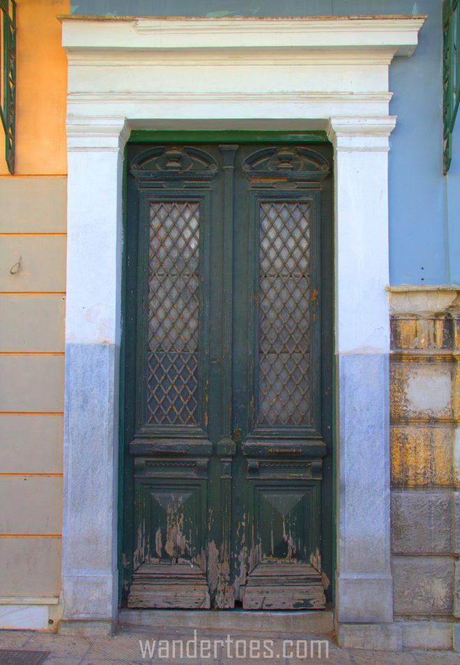 Green Grate Window