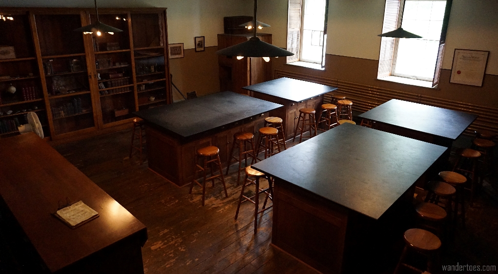 Chemistry classroom preserved from Morrin College, Morrin Center, Quebec City