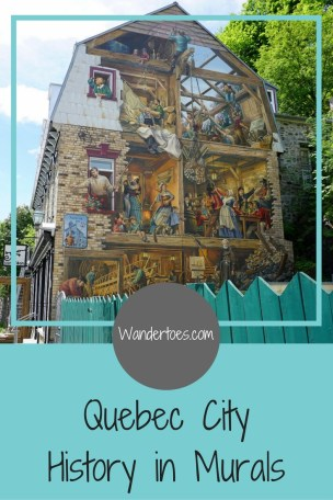 The murals of Quebec City tell the complex story of the city, the history of life and politics of a city so beloved by its inhabitants.  So here, I want to share with you the three murals I found the most beautiful and rich in history.