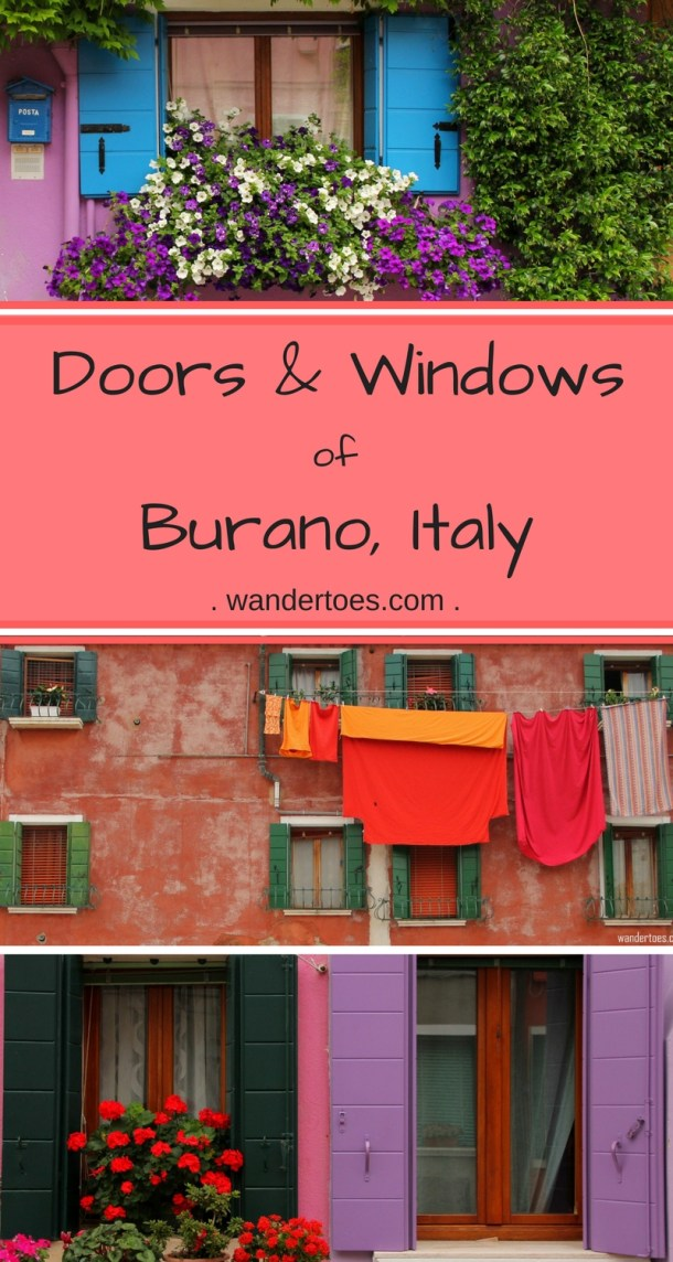 Burano, Italy: Doors and windows of this unique, boldly colored island
