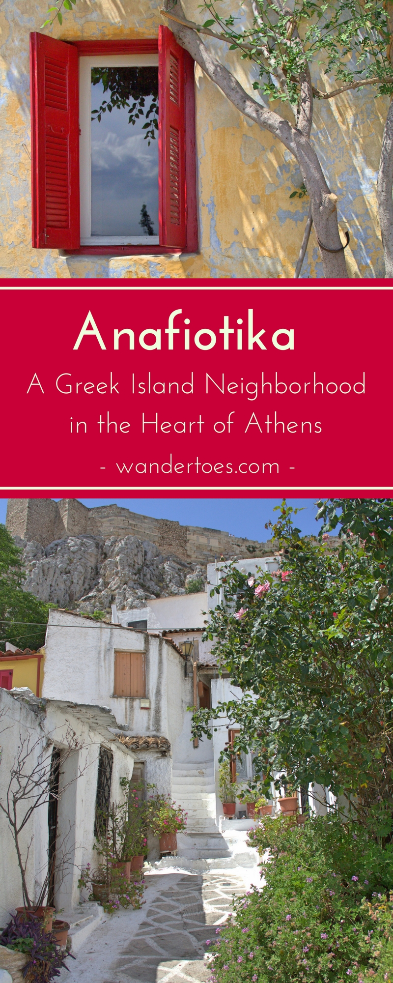 Anafiotika, Athens, Greece:  This incredibly photogenic neighborhood in the shadow of the Acropolis brings the feel of the Greek Island into the heart of Athens.