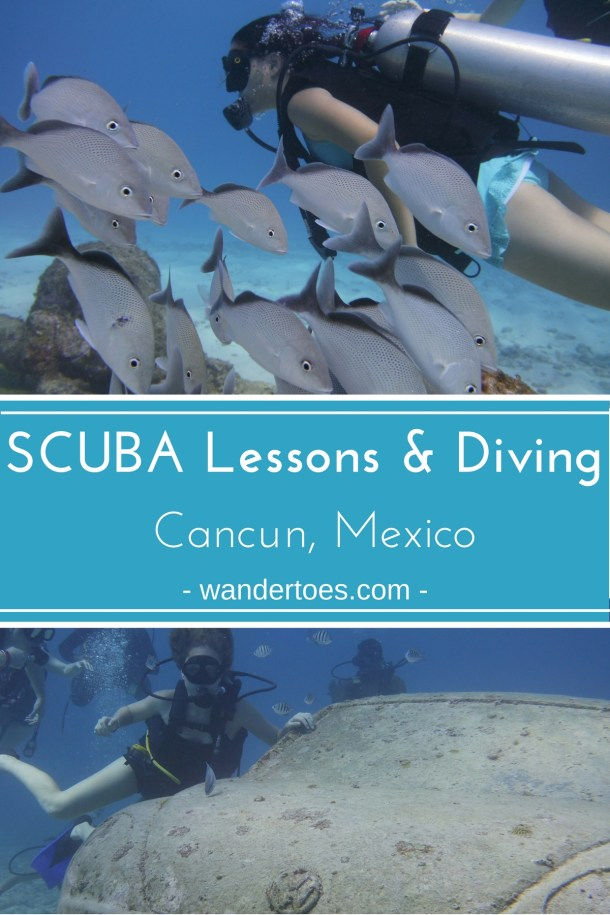 Cancun, Mexico:  A family SCUBA lesson and dive of MUSA, the underwater museum around Cancun & Isla Mujeres.  Scuba Diving Cancun Mexico | Scuba Cancun | Scuba Diving Isla Mujeres | MUSA | #SCUBA #Cancun #IslaMujeres #SCUBACancun #SCUBAIslaMujeres #MUSA #SCUBAMUSA
