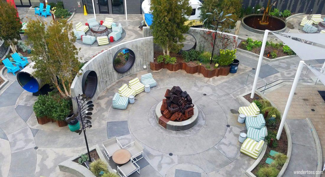 Hotel Zephyr San Francisco, USA | Instagrammable Hotel San Francisco | Courtyard