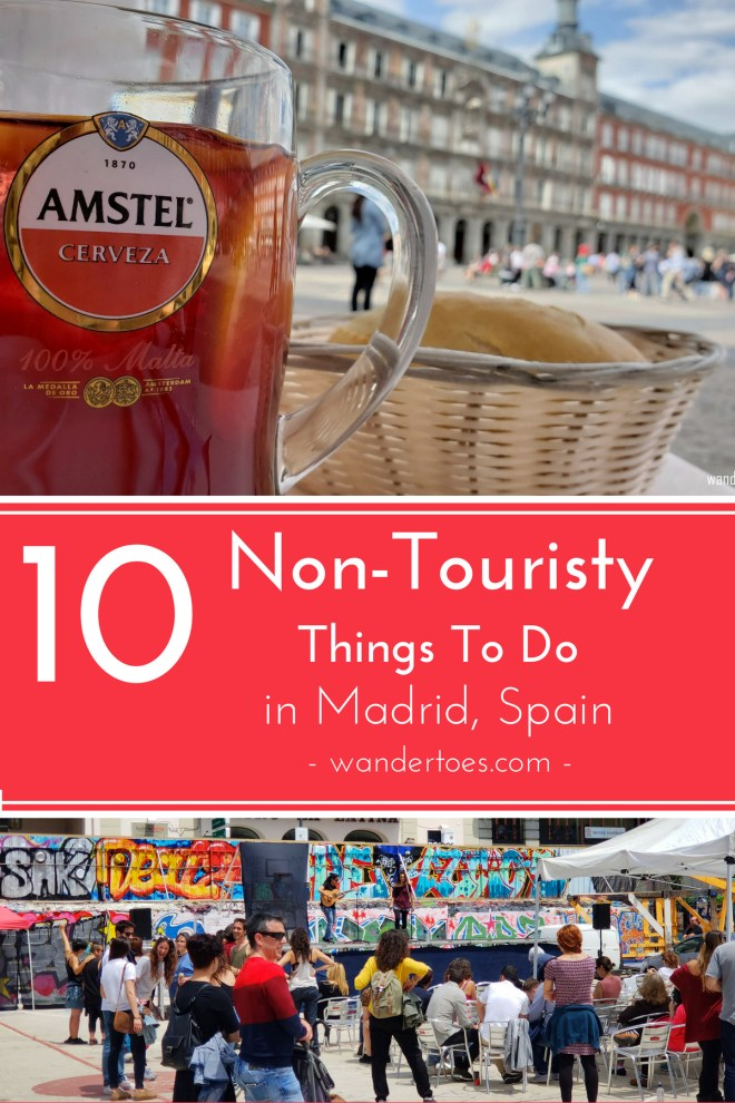 Madrid, Spain: Looking for some non touristy things to do in Madrid?  To get off experience the city? Give our list of 10 non touristy things to do in Madrid a try! Madrid | Spain | Non Touristy | Things To Do | Wandertoes | #Madrid #Spain #NonTouristy #ThingsToDo #Wandertoes
