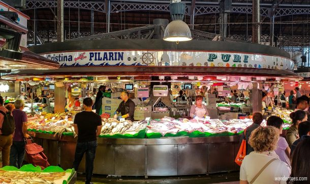 La Boqueria Fish Vendors