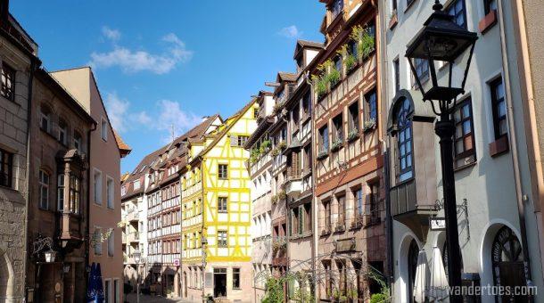 Weiβgerbergasse Old Town Nuremberg restored historic street