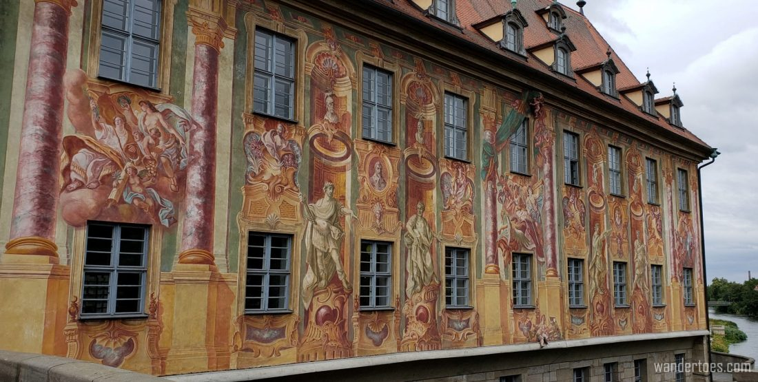 Bamberg Day Trip Must See, Bamberg Altes Rathaus Murals, Bamberg Old Town Hall Murals