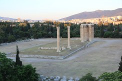 View of Temple of Olympus Zeus from front hotel rooms