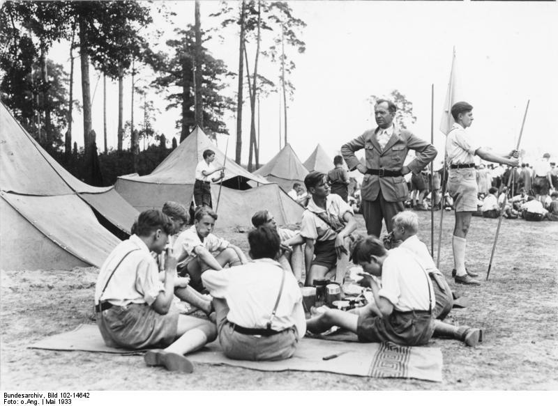 Camp de la jeunesse Bündisch près de Berlin