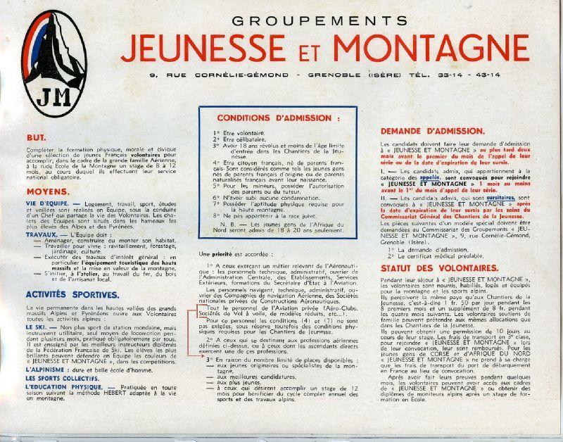 Brochure de Jeunesse et Montagne - Wandervogel-France