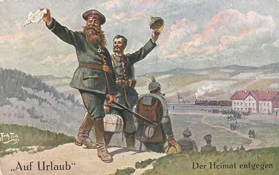 Arthur Thiele - Auf Urlaub Der Heimat entgegen - Wandervogel France - Mouvements de jeunesse