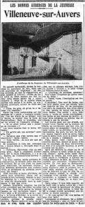 Le populaire - 23.08.1933 - LEs bonnes auberges de jeunesse