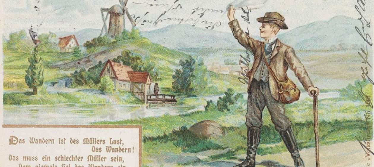 """Rousseau - Le voyage à pied - """"Das Wandern ist des Müllers Lust"""" - 1902"""