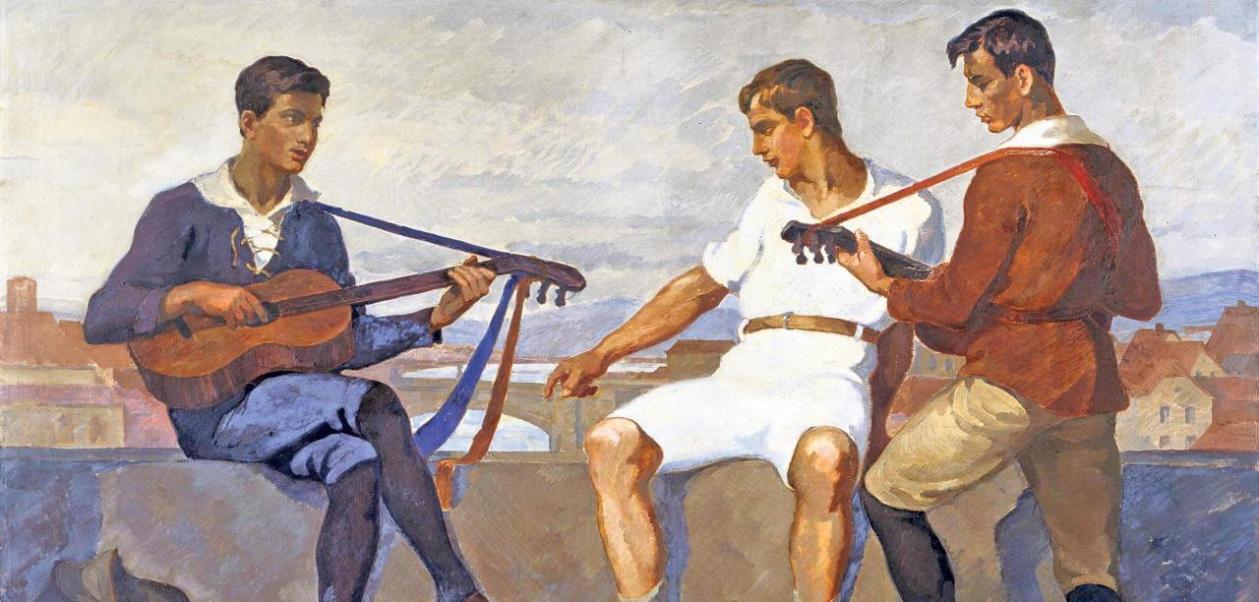 Otto Högers Gemälde Wandervögel 1916
