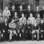 Karl Fischer - Unterprima 1899 des Steglitzer Gymnasiums mit De. Spindler, unter Reihe v.l. 3. Karl Fisch, 9. Bernstein oder Reihe v.l. 5, 8. Siegfried Copalle