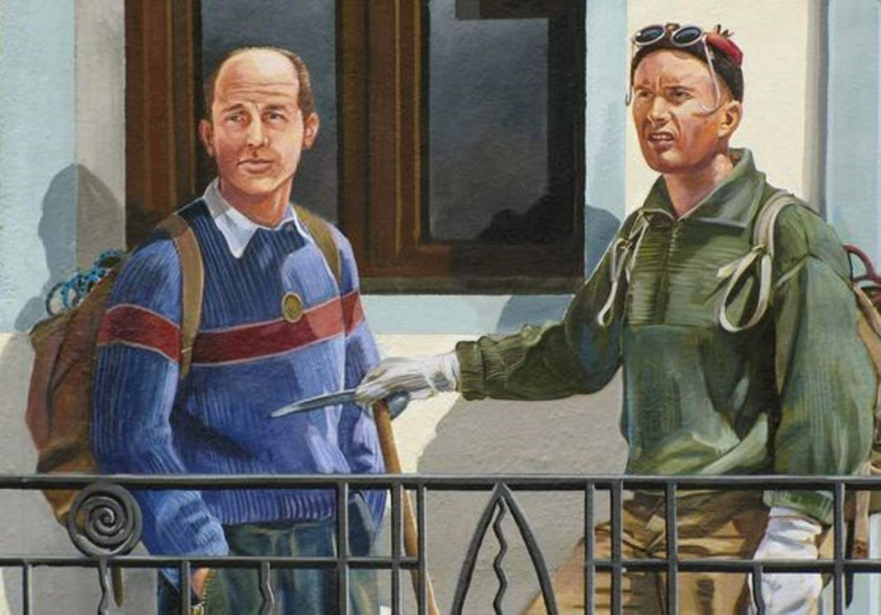 Louis Lachenal and Lionel Terray, guides - The Chamonix guides by Patrick Commecy & A.Fresco (Chamonix-Mont-Blanc, France)