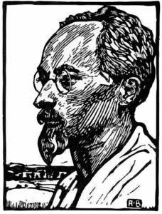 Karl Fischer - Linolschnitt von Robert Budzinski (1876–1955)