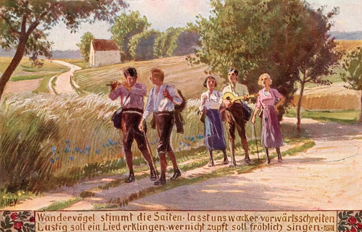 Paul Hey (1867–1952) - Randonnée de Wandervogel
