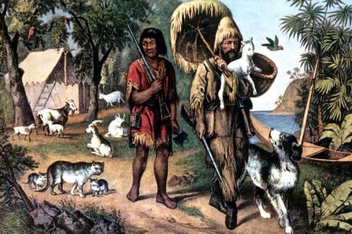 Robinson Crusoé et Vendredi