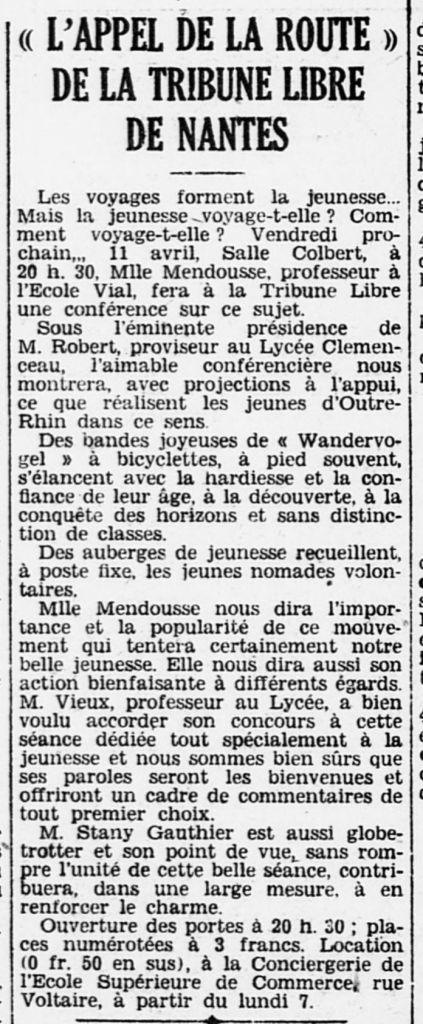 1930-04-06_L'Ouest-Éclair_Ed-Rennes_Appel de la route et les Wandervogel