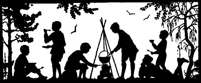 jeunes randonneurs préparent le repas
