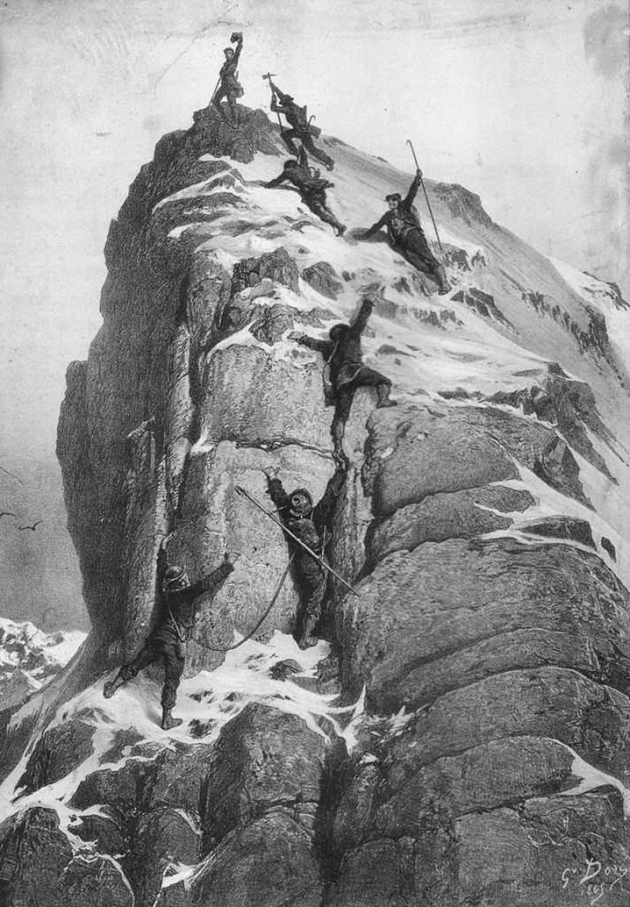 Gustave Doré - 1865, la première assension du Cervin