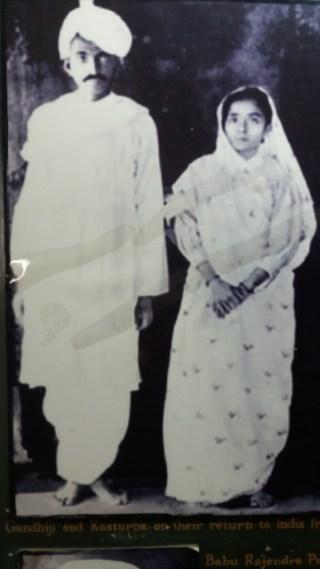 Gandhiji and his wife Kasthurba