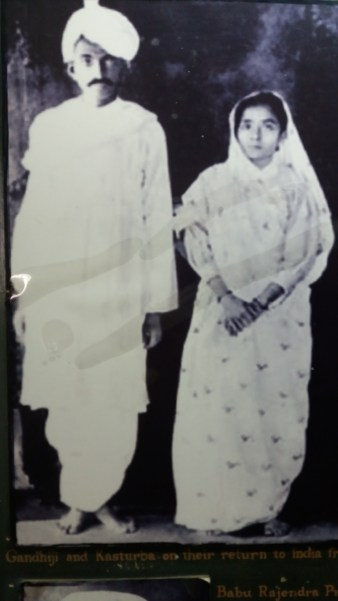 Gandhiji and his wife Kasthurba