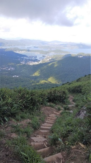 hiking to kowloon peak