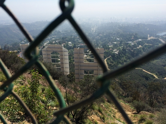 hollywood sign fence