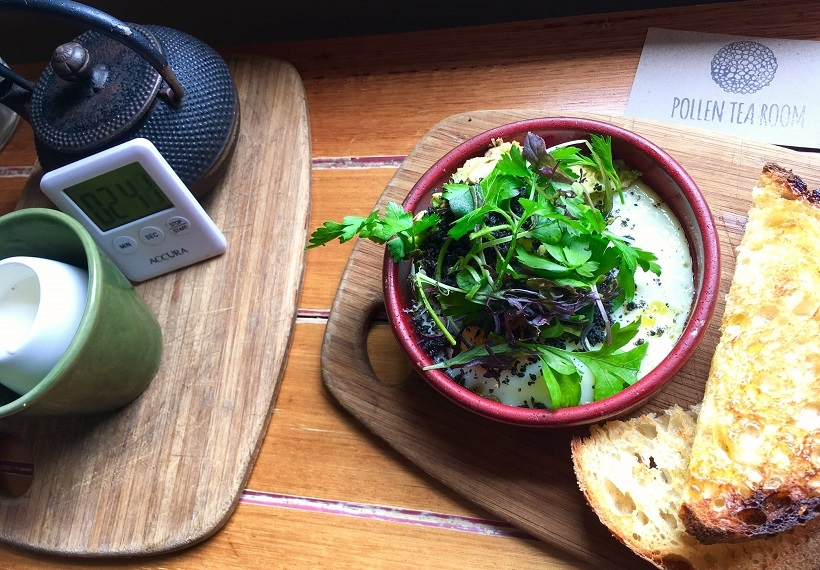 Brunch at Pollen Tea Room Hobart