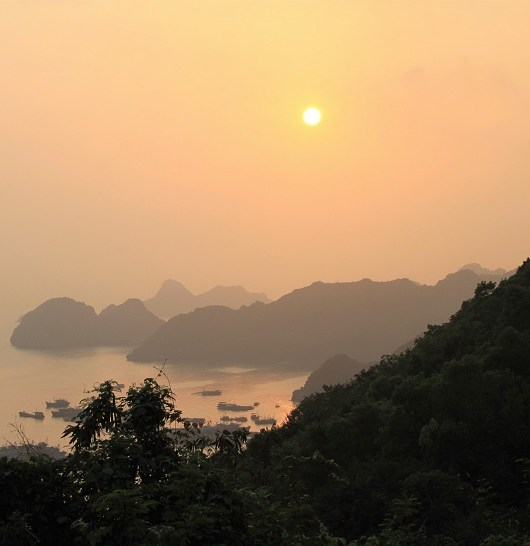 Cat Ba island fort sunset