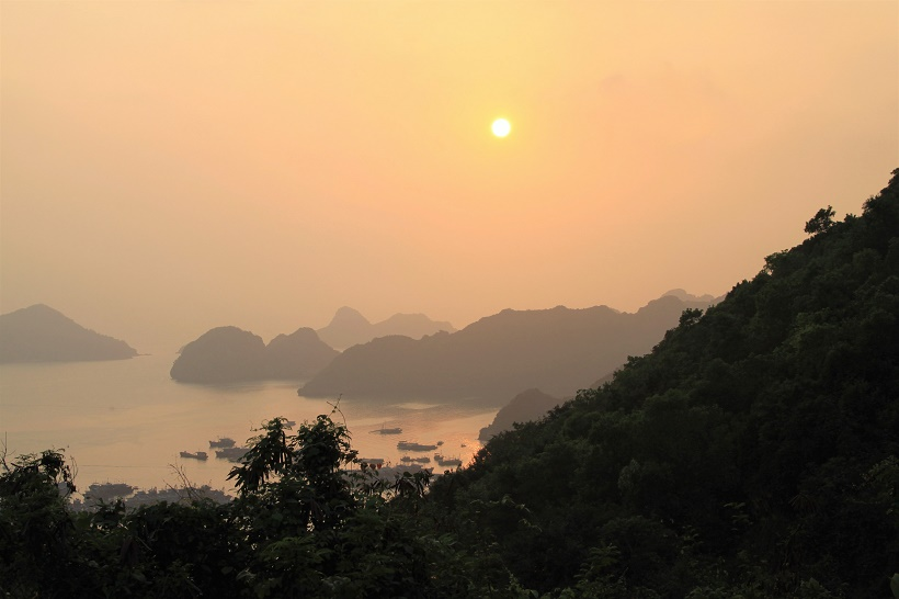 Cat Ba island fort sunset