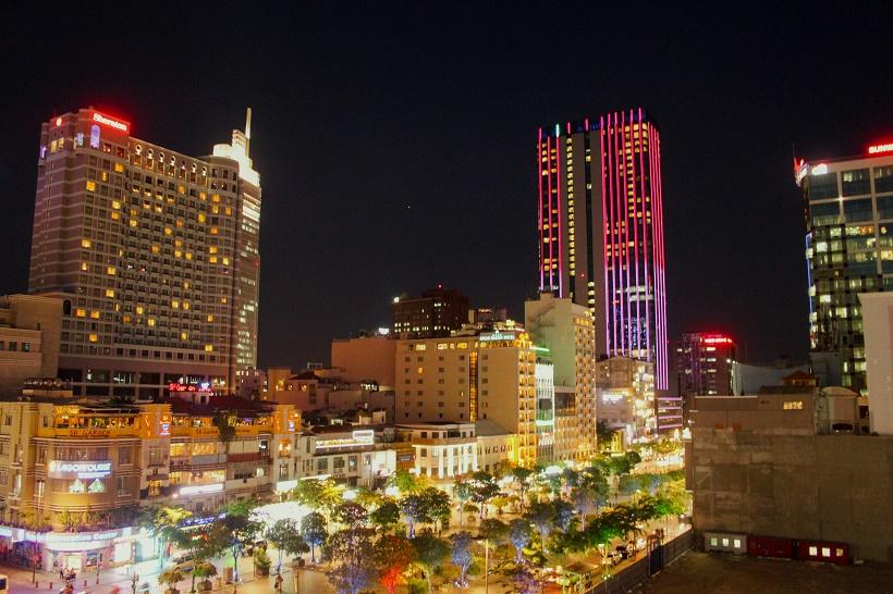Rex Rooftop Bar Night View
