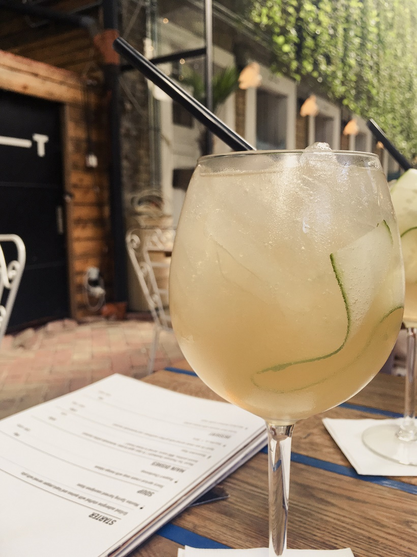 Gin at Mazel Tov Ruin Bar