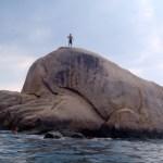 The jumping rock at Ko Tao