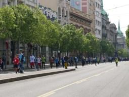 Leere Straßen für den Belgrad-Marathon.