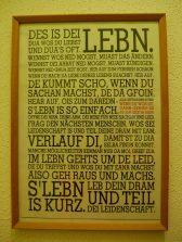Ein schlauer Text - gefunden auf der Toilette von Anni, Teresa und Robert und deshalb für alle Nicht-Bayern evtl. schwer zu entziffern.