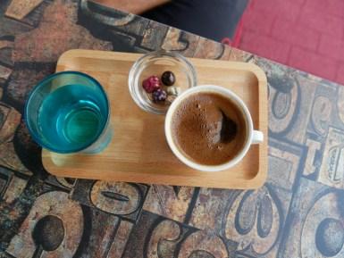 Entzückend süßer türkischer Kaffee, der uns oft nochmals die Power gibt weiterzufahren.