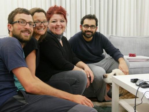 Odi, Bugra, Dilara, Antonia und Daniel nach einem aufregenden Tag.