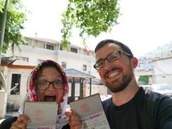 Wir haben das iranische Visum bekommen.