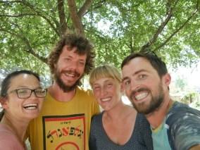 Antonia, Jeffer, Katrien, Daniel. Begian cyclist friends.