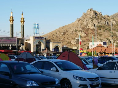 Zeltstadt im Golestan National Park.// Tent City in the Golestan National Park.