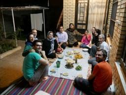 Whole family of Wahab came for dinner in Shirvan - we got a concert and amazing food.// Die ganze Familie von Wahab kommt zum Abendessen in Shirvan - wir haben ein Konzert und leckeres Essenn bekommen!