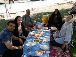 Invitation for lunch in the park in Shirvan.// Einladung zum Mittagessen im Prk in Shirvan.