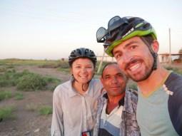 Antonia, unser Held der ersten Nacht in Turkmenistan, Daniel// Antonia, the hero of our first night in Turkmenistan, Daniel.