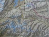 Map of Pamir.// Karte des Pamir.