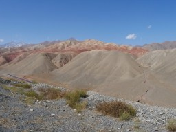 Red sand.// Roter Sand.